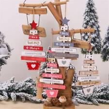 Christmas Wooden Pendant Hanging Door DIY Decor Xmas Tree Home Party Ornaments