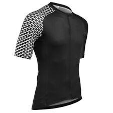 Black Men's Cycling Short Sleeve Tops Jersey Bike Riding Shirt Jerseys Outfits