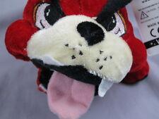 "NEW RED BULLDOG WACKY FACE EYES  PUPPY DOG PLUSH STUFFED ANIMAL TOY SOFT 9"""