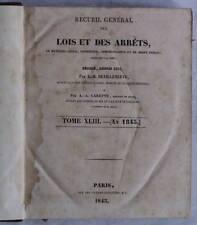 DECRETI LEGGI FRANCIA DIRITTO CIVILE CRIMINALE 1843
