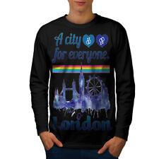 ORGOGLIO AMORE Urbano Londra Uomini Manica Lunga T-shirt Nuove | wellcoda