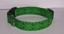 Wet Nose Designs Celtic Medallions Dog Collar Irish Green St Patricks Day