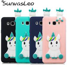 For Samsung Galaxy J3 J5 J7 (2016)(2017) Pro 3D Unicorn Soft Silicon Case Cover
