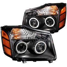Anzo USA 111095 Projector Headlight Set w/Halo Fits Armada Pathfinder Titan
