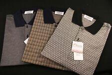 Men's Polo Shirt Short Sleeve Mercerize Cotton  (Gulf Fancy Polo) Made in Italy