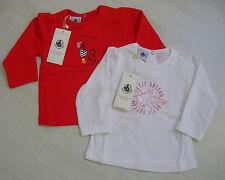 T-Shirt mit langem Arm in weiß oder rot, von Petit Bateau. NEU!!!