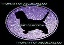 Vrs Oval Dog Petit Basset Griffon Vendeen Adoption Puppy Car Decal Metal Sticker