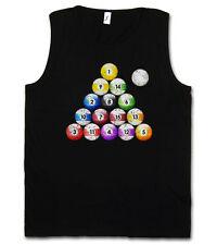 POOL BILLARD VINTAGE TANK TOP VEST - Eightball Ball Snooker Gamble Player Eight