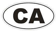 CA California OVAL Bumper Sticker or Helmet Sticker D450 Canada Country Code