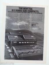 retro magazine advert 1982 TOA mixers