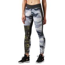 Women's Reebok Elite Tight Wicking Training CrossFit Gym Workout Camo Trousers