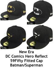 NEW ERA DC COMICS HERO REFLECT 59FIFTY FITTED CAP - BATMAN/SUPERMAN