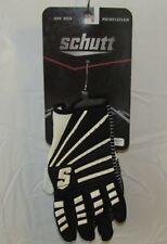 NEW SCHUTT ION RED RUNNING BACK RECEIVER BLACK & WHITE FOOTBALL GLOVES SZ L XL