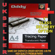 100 A3 Translucide Papier Calque 95gsm pour L'Art, Loisirs Créatifs, Copie Ou
