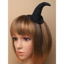 Le donne signore anni'90 Nero Glitter Witch Hat Halloween Hairband Costume Feste