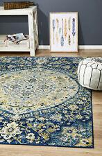 ELIZA MUS867 BLUE CREAM Modern Rug Large Floor Mat Carpet  *FREE DELIVERY*