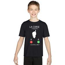 T-shirt ENFANT GARÇON LA CORSE M'APPELLE...