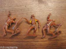 3 soldatini soldatino toy soldier vintage 5 cm plastica cowboys cowboy western