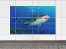 Fliesenaufkleber Fliesen Bad Fliesensticker Tiere Meer weißer Hai Unterwasser