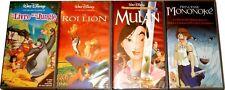 LOT DE CASSETTES VIDEO ORIGINALES VHS Lot N° 4001 ROI LION, MULAN, MONONOKE, etc