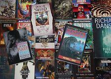 Auswahl: Roman-Abenteuer-Science Fiction-Thriller-Cyberpunk-Vampire-englisch