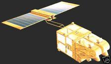 SPOT Satellite Mahogany Desk Wood Model Spacecraft Big