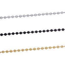 Halskette Edelstahl Herrenkette Männerkette Kugelkette 60 cm schwarz gold silber
