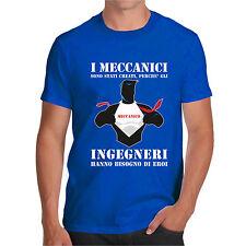 T shirt MECCANICI SUPEREROI maglietta HAPPINES t-shirt divertente SUPERMAN