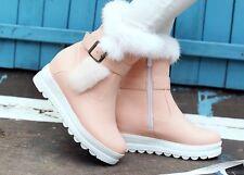 stivali stivaletti comodi scarpe donna rosa pelo sintetico  simil pelle 8729