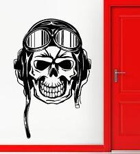 Wall Sticker Vinyl Decal Skull Skeleton Pilot Aviation Decor Rooms (ig2156)