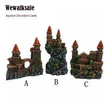 Fish Tank Ornament Resin Gothic Tower Small Medieval Castle Aquarium Decorations