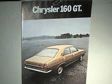 CATALOGUE /PROSPECTUS  CHRYSLER 160/160GT/ 180 :  1972