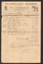 """CIVRAY (18) BOURRELLERIE SELLERIE """"J. COMPAIN"""" en 1912"""