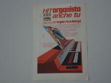 advertising Pubblicità 1971 HIT ORGAN BONTEMPI