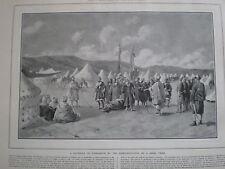 Marocco djebalas tribù presentare al Sultano 1907 Print