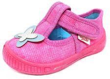 Mädchen Superfit Hausschuhe pink Größe 21 Glitzer Schmetterling leicht