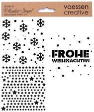 Schablone WEIHNACHTEN Stencil VAESSEN Papier Grusskarten Textil WINTER