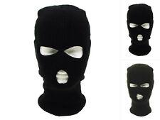 MFH Balaclava 3-Loch Polyacryl Sturmhaube Maske Skimaske Sturmmaske Schwarz Oliv