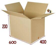 lot de 20 boîtes emballage carton 600 X 400 X 200 mm