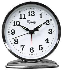 La Crosse Technology 24014 Wind-Up Alarm Clock, Loud Bell, Chrome