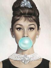 Audrey Hepburn Bubblegum COLOR AHBG01 A3 A4 POSTER PRINT BUY 2 GET 1 FREE