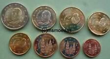 Spanien Euro KMS alle 8 Euromünzen mit 1 Cent bis 2 Euro coins Jahr nach Wahl
