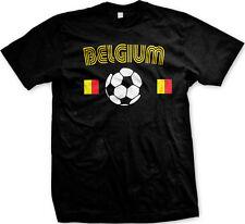Belgium Flag Belgisch Voetbalelftal Soccer Ball Football Pride Mens T-shirt