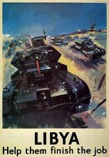 WB5 Vintage WW2 Libya British Tank WWII World War Poster Re-Print A2/A3