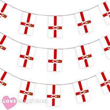 Bandera de Irlanda del Norte 33FT empavesado Decoración 20 banderas 10 metros Fútbol Euro