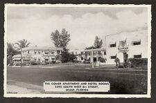 POSTCARD: THE COMER HOTEL & APARTMENTS - TAMIAMI TRAIL (8th St) - MIAMI, FLORIDA