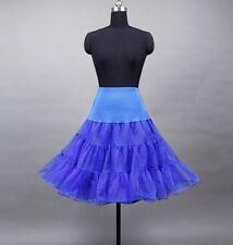Petticoat 50er 60er Jahre Tüllrock Dirndlrock Unterrock Braut Royalblau S - XL