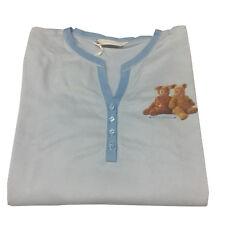 ANNE GEDDES by IMEC camicia da notte manica lunga celeste art 17014 BEAR