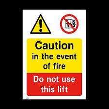 Attention ne pas utiliser les ascenseurs dans Signe, Autocollant-toutes tailles et matériaux (le14)
