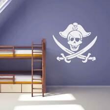 Kids Bedroom Decal Skull And Cross Bones Pirate Wall Sticker Boys